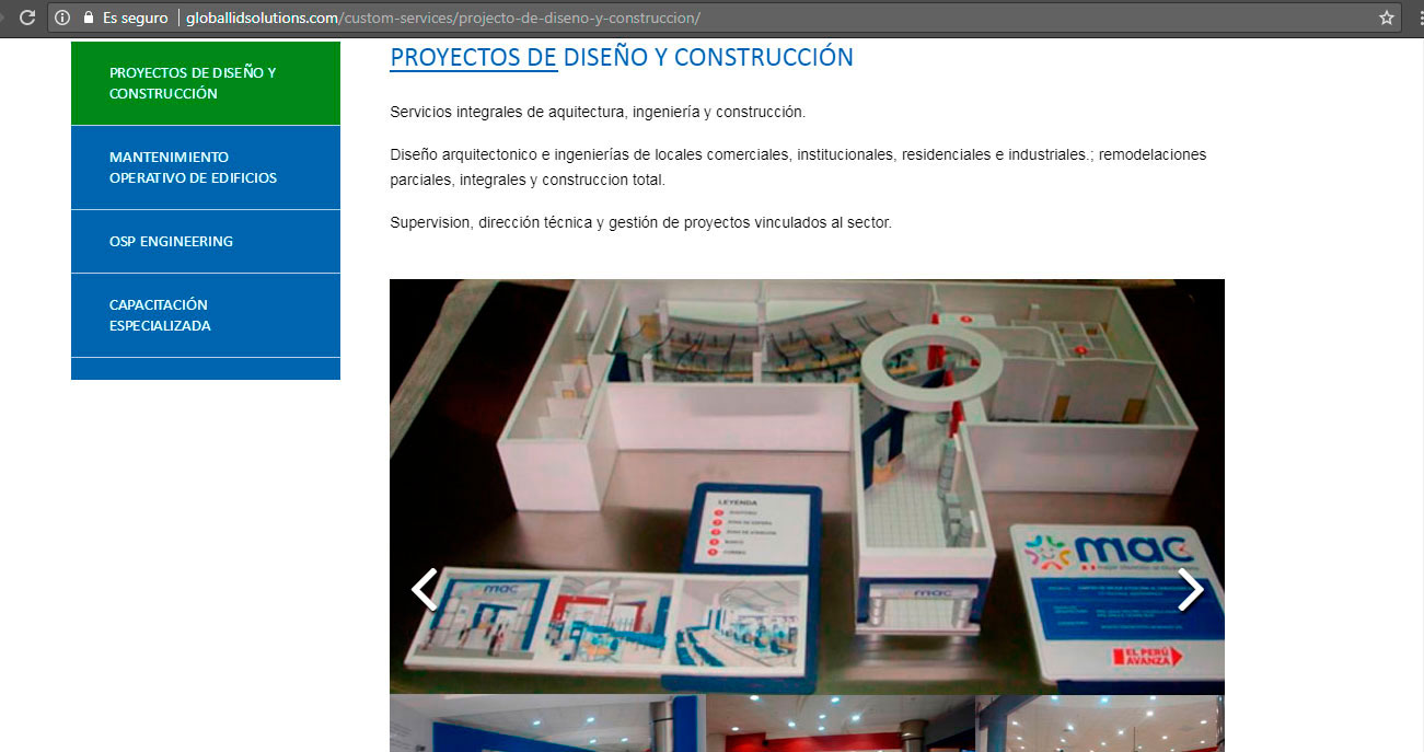 diseno web arquitectos globalid